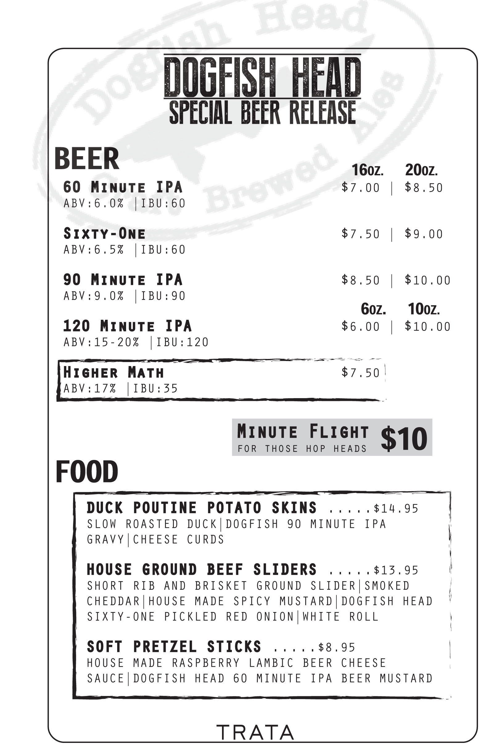 Dogfish-Head-Menu